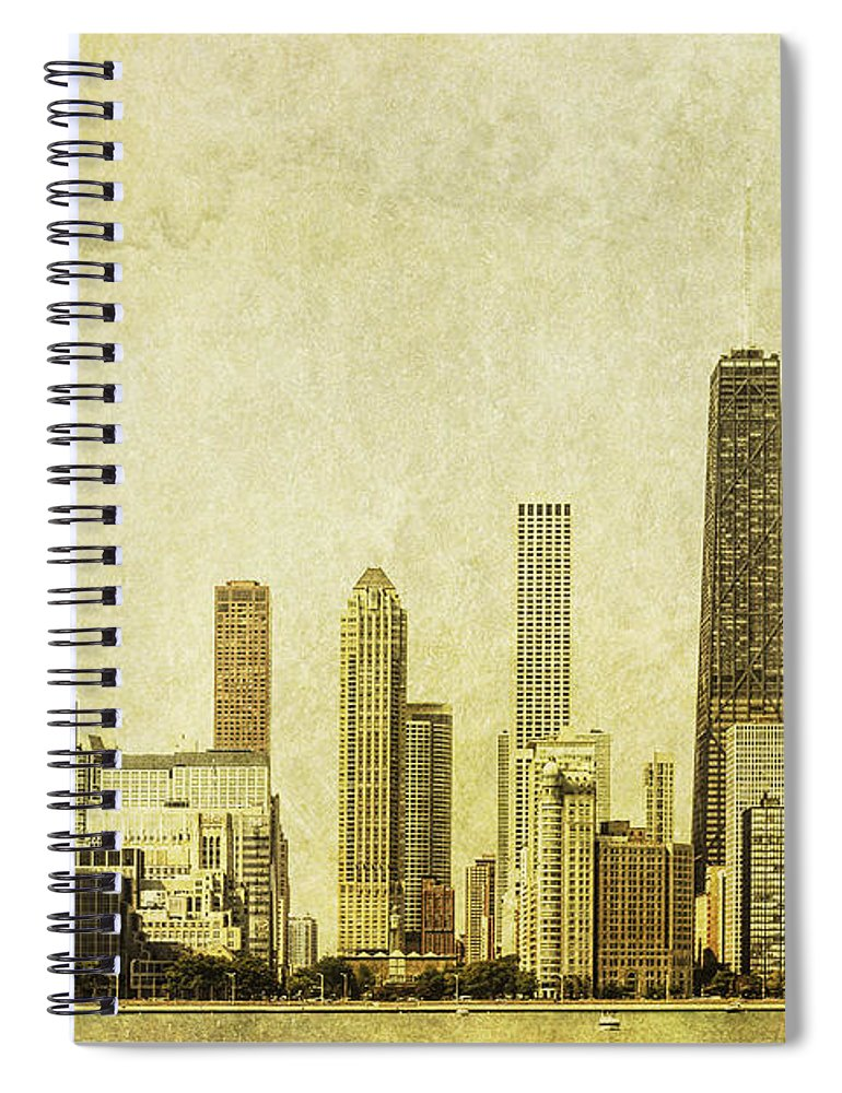Chicago Spiral Notebook featuring the photograph Lakeside Views by Andrew Paranavitana