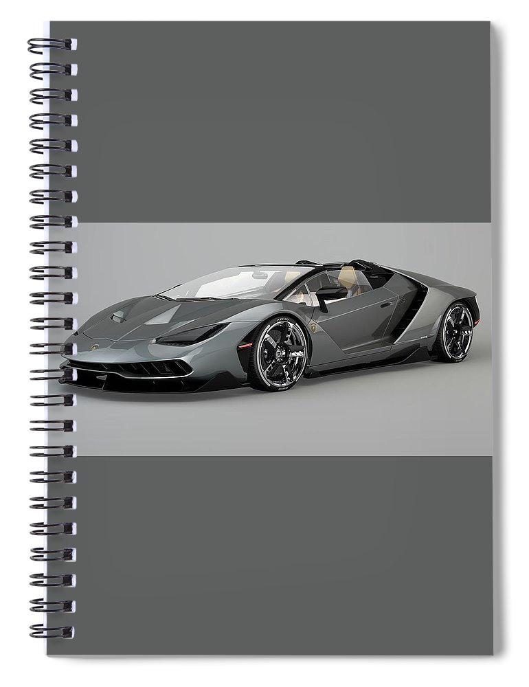 Lamborghini Centenario Roadster Spiral Notebook For Sale By Louis