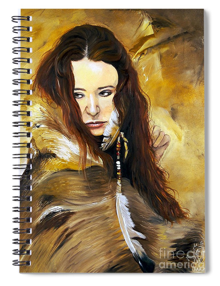 Southwest Art Spiral Notebook featuring the painting Lament by J W Baker