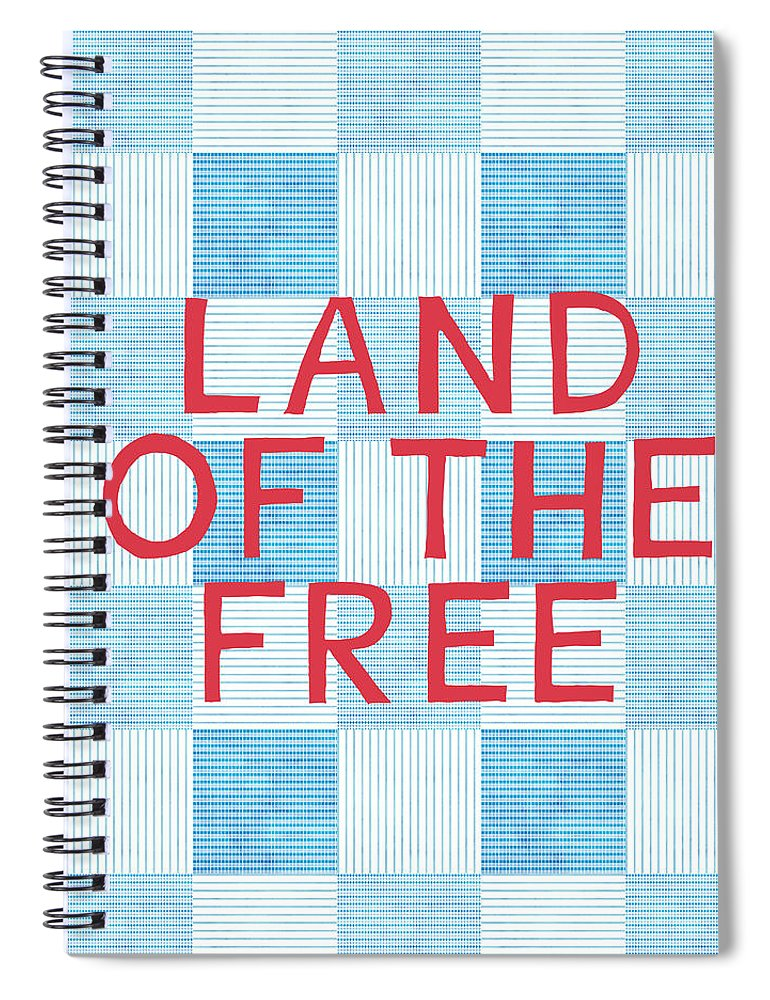 Land Of The Free Spiral Notebook featuring the painting Land Of The Free by Linda Woods