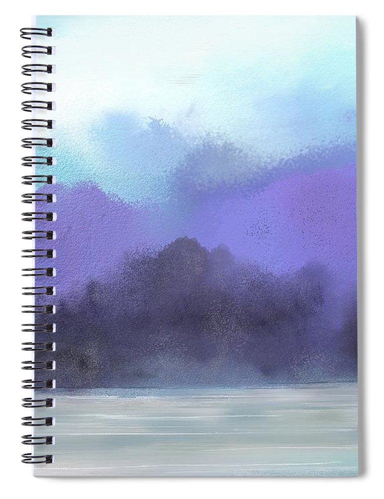 Digital Painting Spiral Notebook featuring the digital art Landscape 02-19-10 by David Lane
