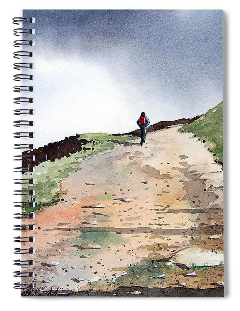 Landscape Spiral Notebook featuring the painting Lane To Quarry Pole Moor by Paul Dene Marlor