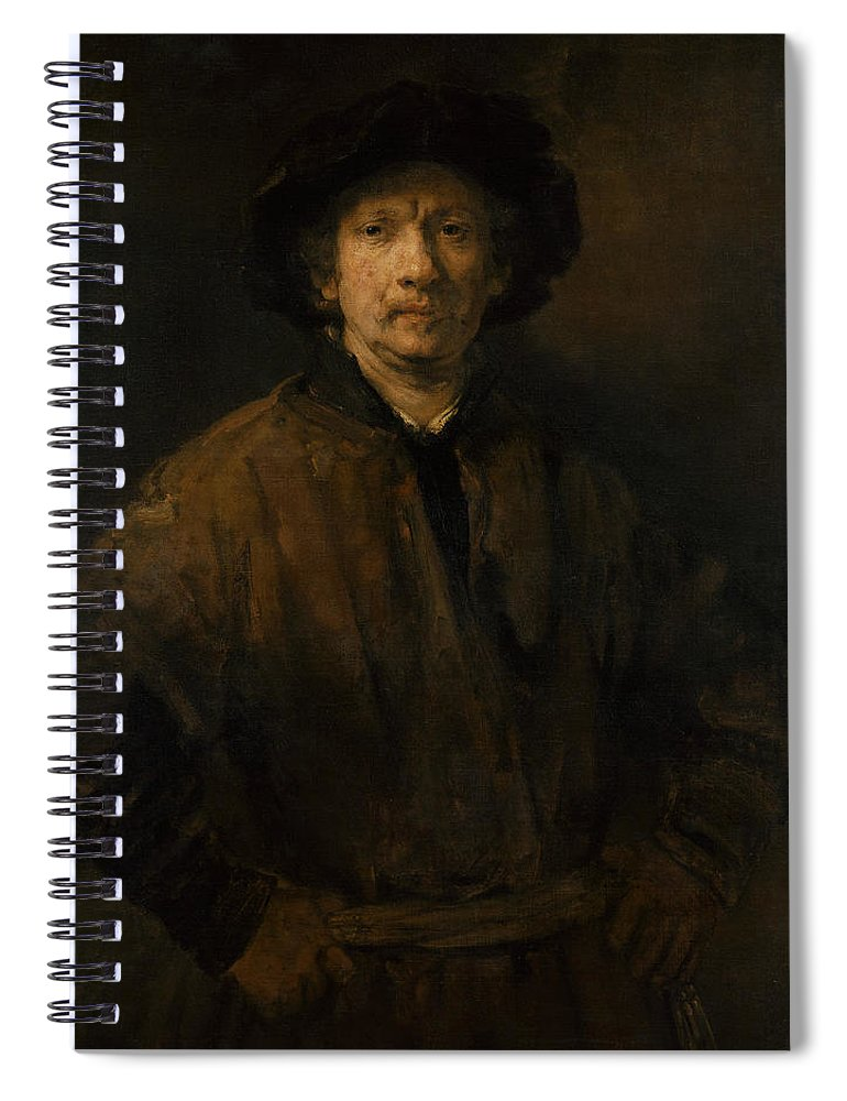 Rembrandt Spiral Notebook featuring the painting Large Self-portrait by Rembrandt