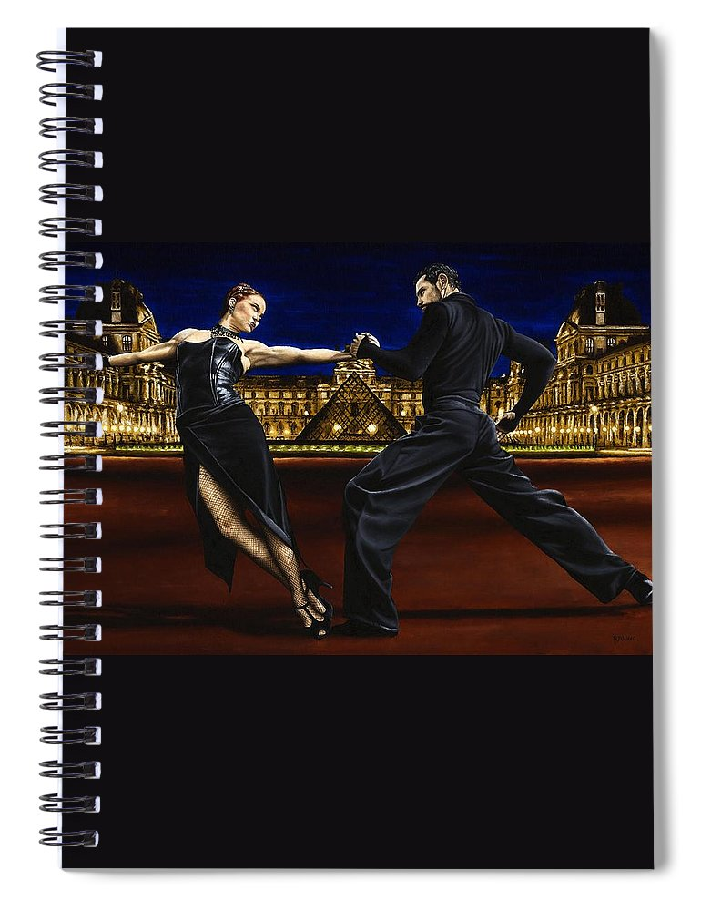Tango Spiral Notebook featuring the painting Last Tango in Paris by Richard Young