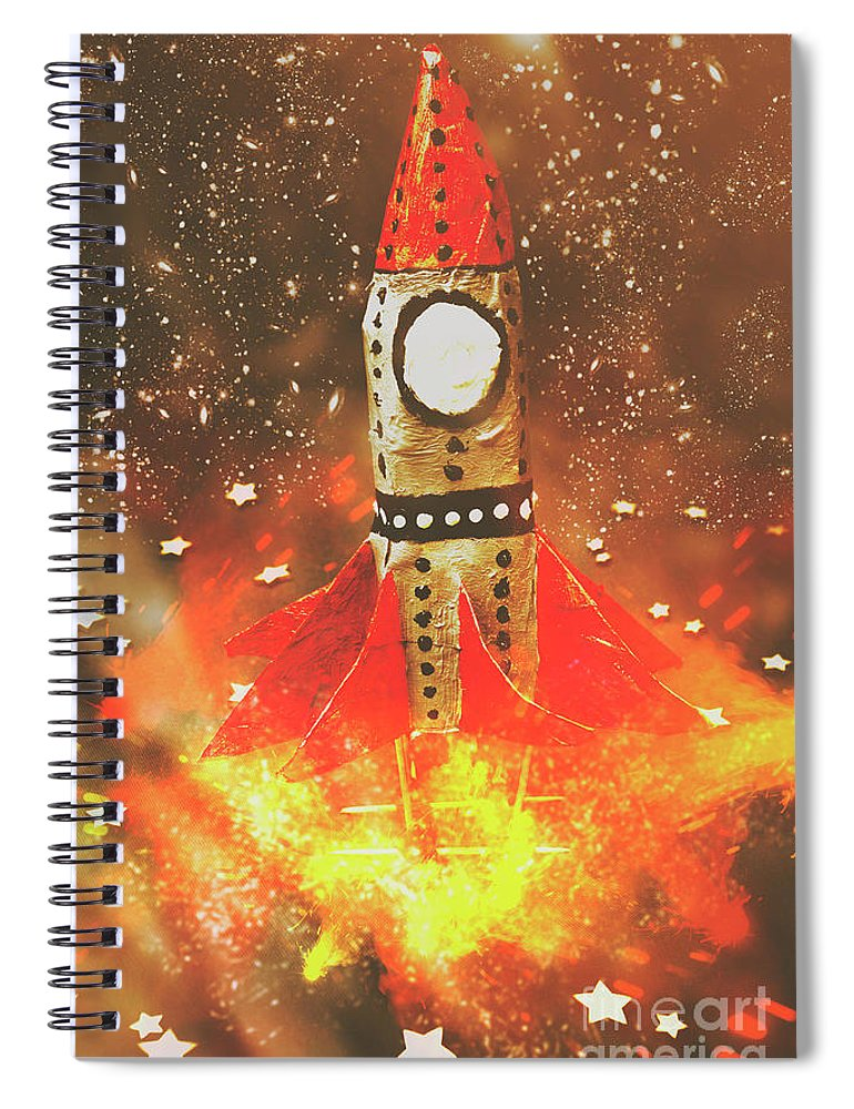 Launch Spiral Notebook featuring the photograph Launch Of Early Learning by Jorgo Photography - Wall Art Gallery