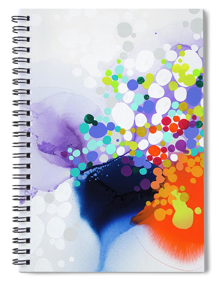 Abstract Spiral Notebook featuring the painting Lay The Blame by Claire Desjardins