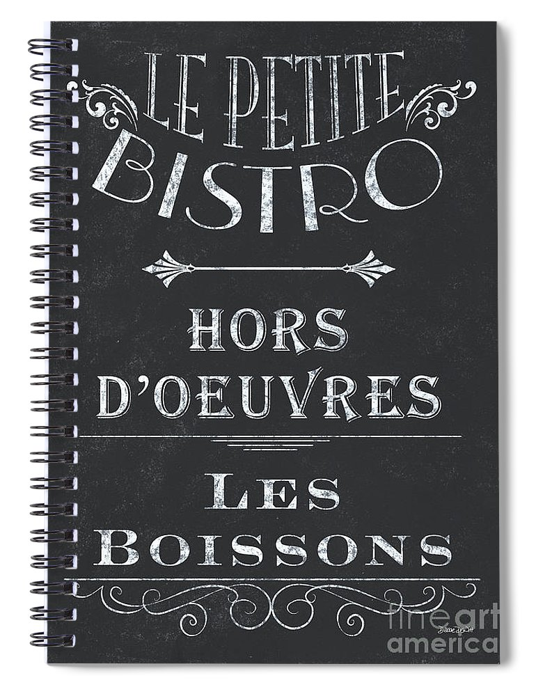 Cafe Spiral Notebook featuring the painting Le Petite Bistro 1 by Debbie DeWitt