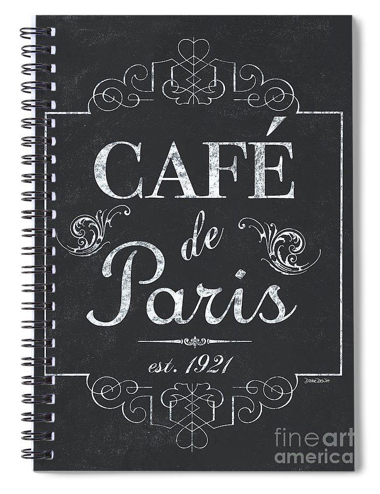 Cafe Spiral Notebook featuring the painting Le Petite Bistro 3 by Debbie DeWitt
