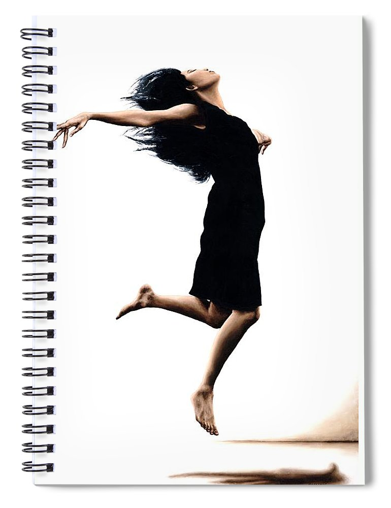 Ballet Spiral Notebook featuring the painting Leap into the Unknown by Richard Young
