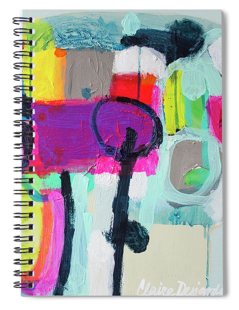 Abstract Spiral Notebook featuring the painting Learner's Permit by Claire Desjardins