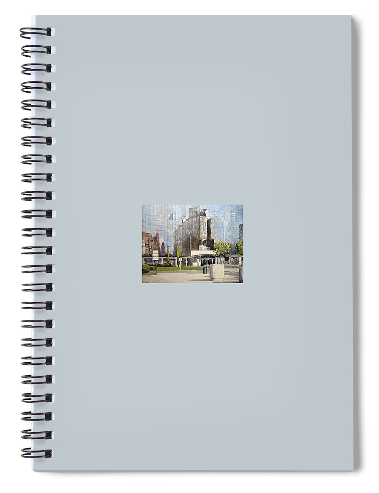 Leon Spiral Notebook featuring the painting Leon by Tomas Castano