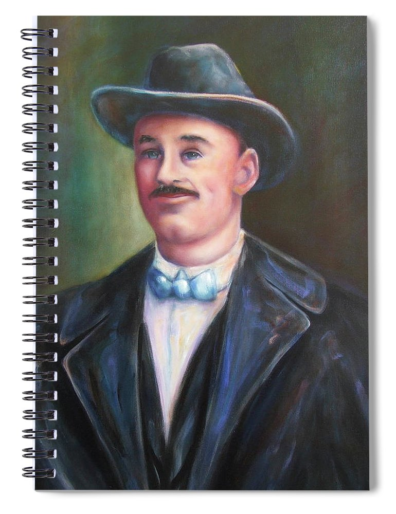 Portrait Spiral Notebook featuring the painting Leonard Mckay by Shannon Grissom