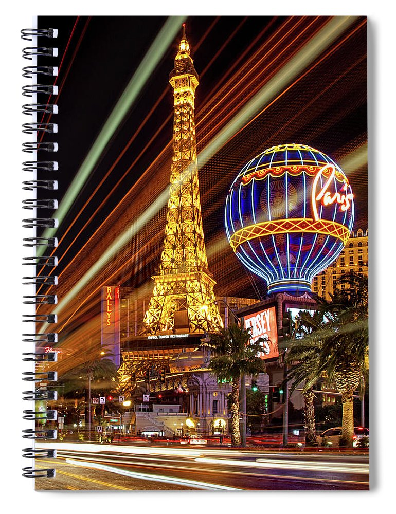 Las Vegas Skyline Spiral Notebook featuring the photograph Let The Fun Begin by Az Jackson