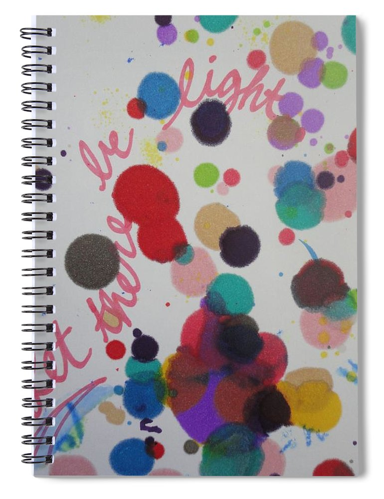 Light Spiral Notebook featuring the painting Let There Be Light by Vonda Drees