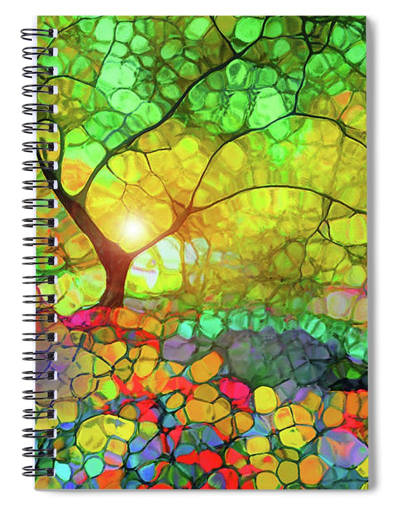 Light Spiral Notebook featuring the photograph Let This Light Bring You Home by Tara Turner