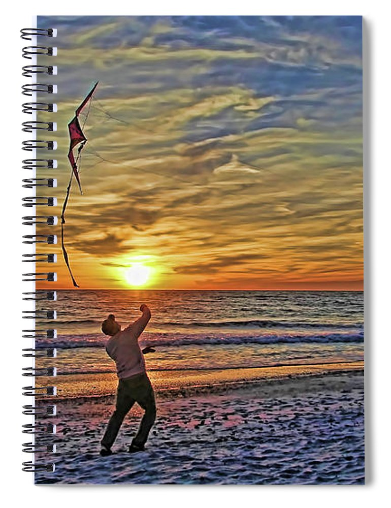 Fly A Kite Spiral Notebook featuring the photograph Let's Go Fly A Kite by HH Photography of Florida