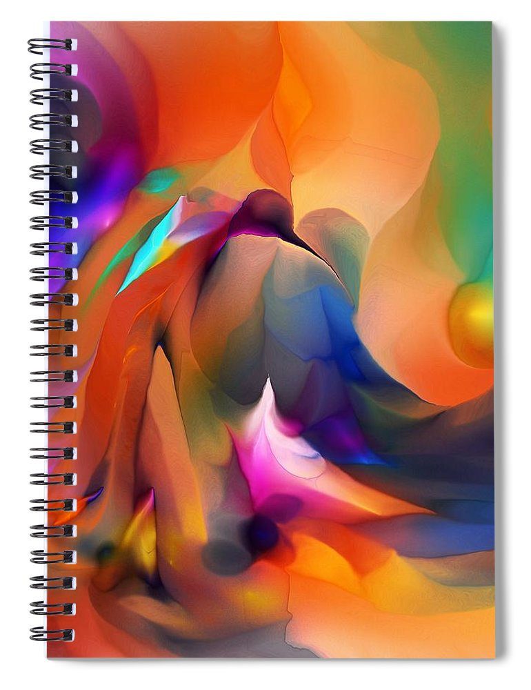 Fine Art Spiral Notebook featuring the digital art Letting Go by David Lane