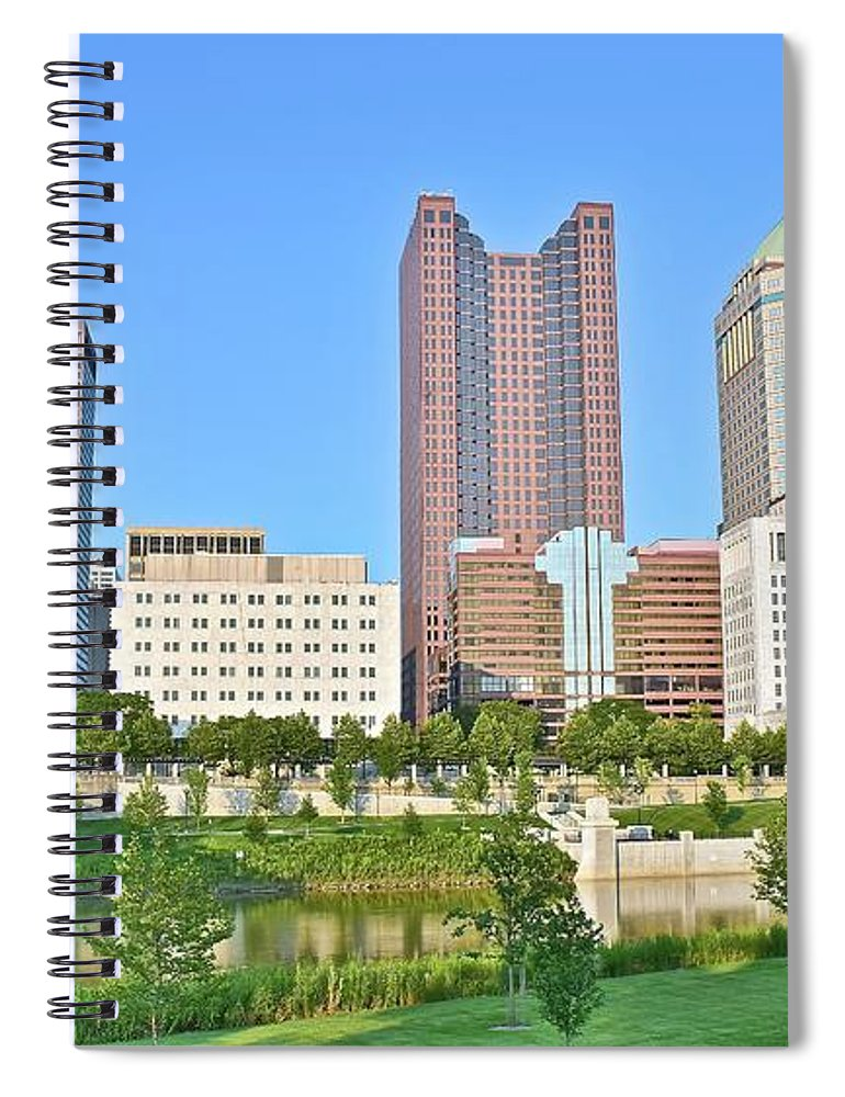 Columbus Spiral Notebook featuring the photograph Leveque Is On The Left by Frozen in Time Fine Art Photography