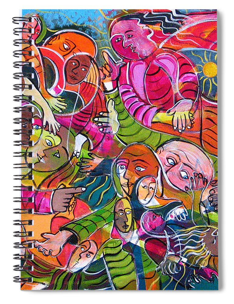 Life Spiral Notebook featuring the painting Life And Death by Rollin Kocsis