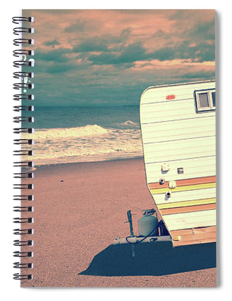 Mug Spiral Notebook featuring the photograph Life Is Short Buy The Beach House Mug by Edward Fielding