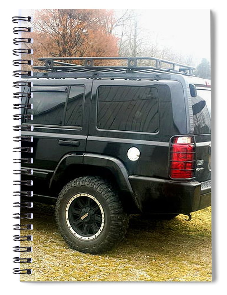 Lifted Jeep Commander Spiral Notebook For Sale By Scott D Van Osdol