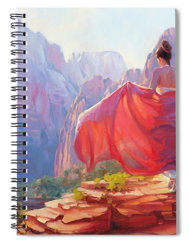 Zion Spiral Notebook featuring the painting Light Of Zion by Steve Henderson