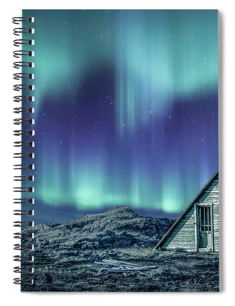 Aurora Spiral Notebook featuring the photograph Light Up My Darkness by Evelina Kremsdorf