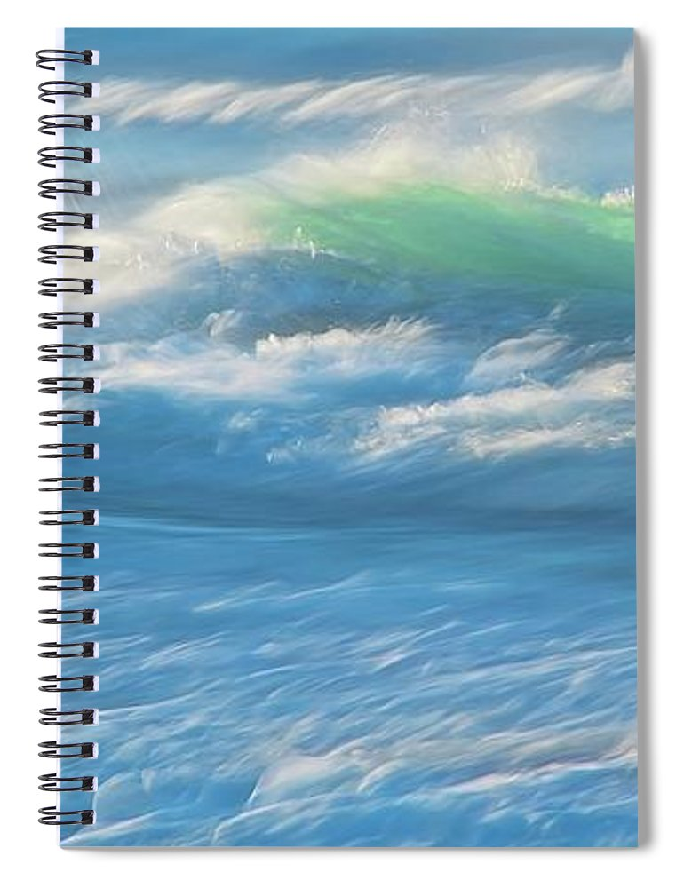 Nature Spiral Notebook featuring the photograph Light Wave at Asilomar, Pacific Grove, California by Zayne Diamond Photographic