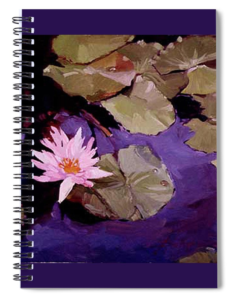 Water Lily Paintings Spiral Notebook featuring the painting Lily Pad by Betty Jean Billups