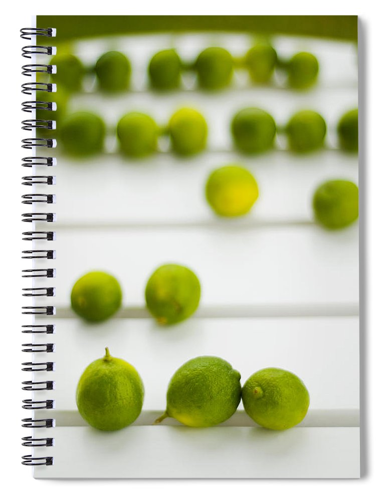 Green Spiral Notebook featuring the photograph Lime Green by Skip Hunt
