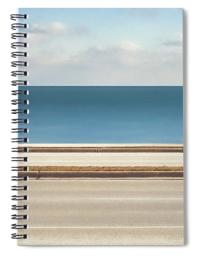 Scott Norris Photography Spiral Notebook featuring the photograph Lincoln Memorial Drive by Scott Norris