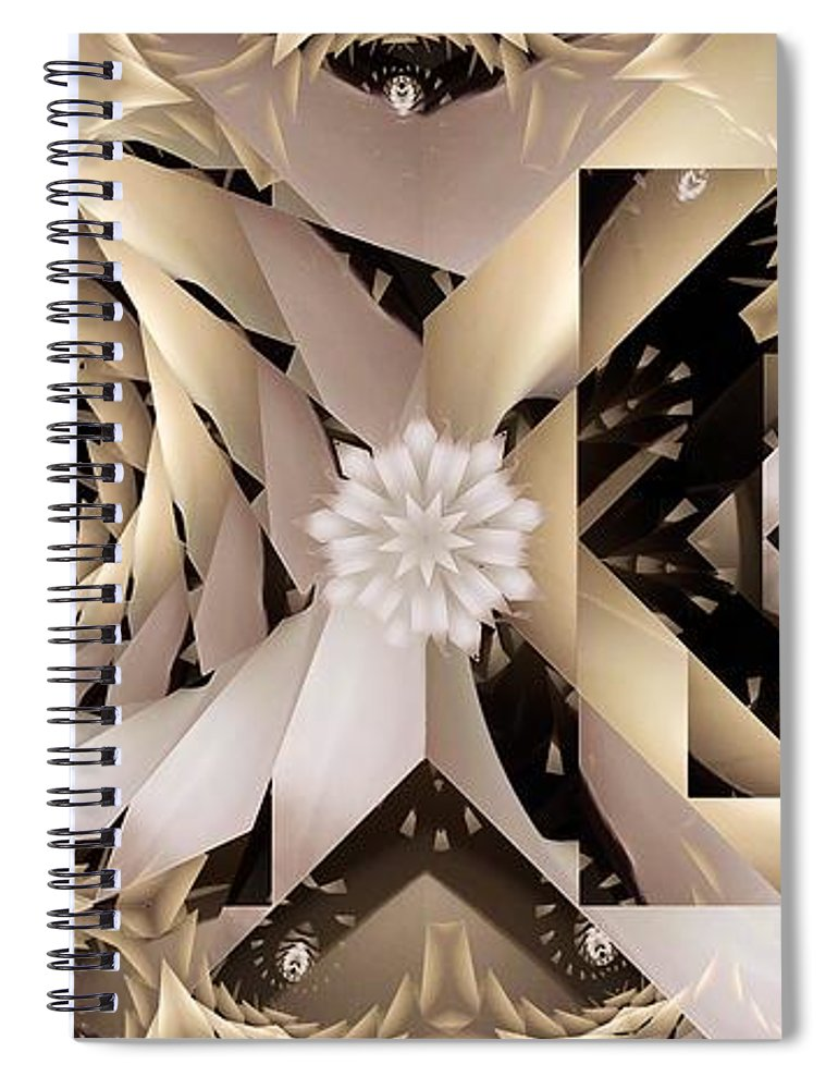 Abstract Spiral Notebook featuring the digital art Linen and Silk by Ron Bissett