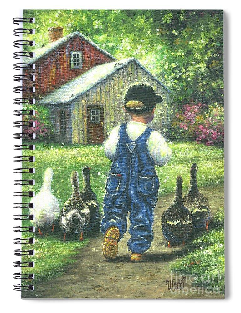 Little Boy Blue Little Farm Boy Spiral Notebook For Sale