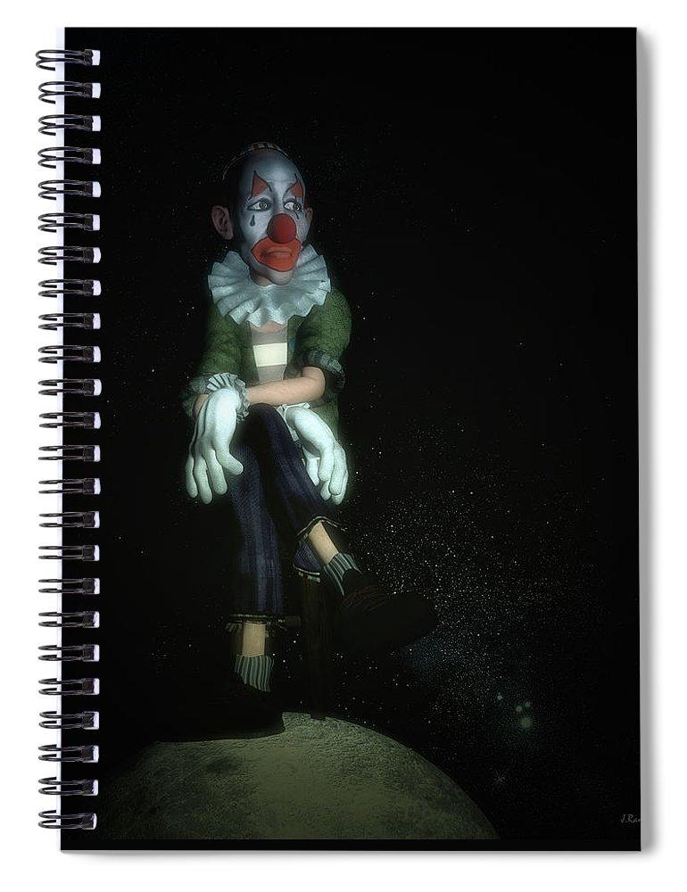 World Spiral Notebook featuring the digital art Little World by Ramon Martinez