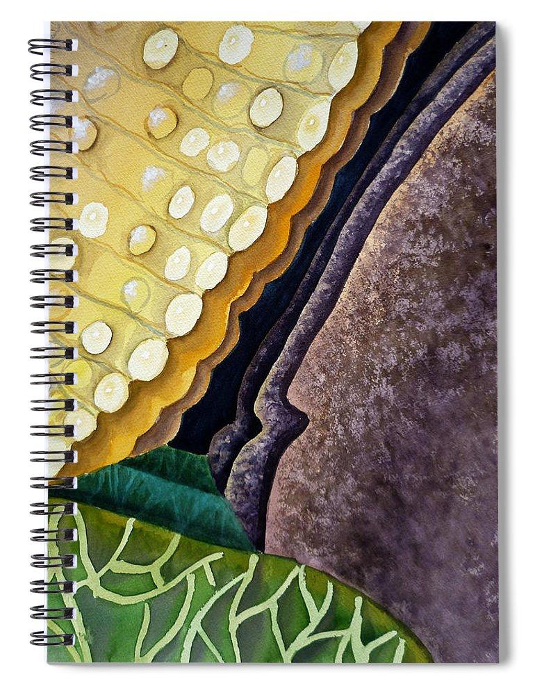 Abstract Art Spiral Notebook featuring the painting Lizard Skin Abstract IIi by Irina Sztukowski