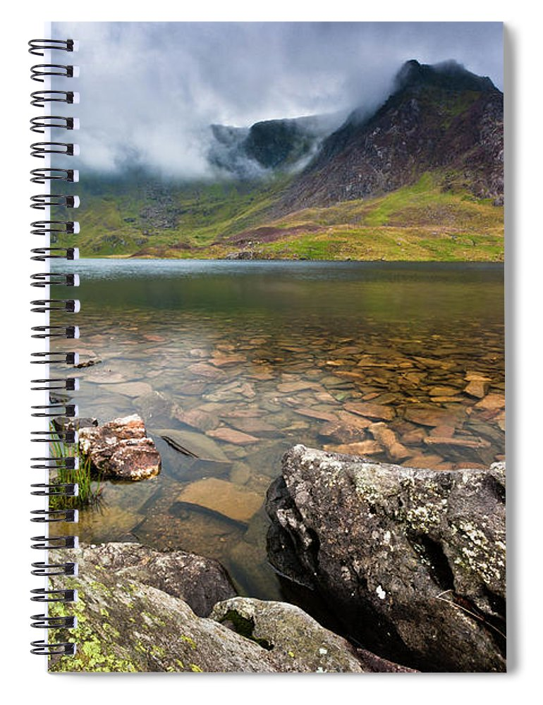 Spiral Notebook featuring the photograph Llyn Idwal #1, Cwm Idwal, Snowdonia, North Wales by Anthony Lawlor