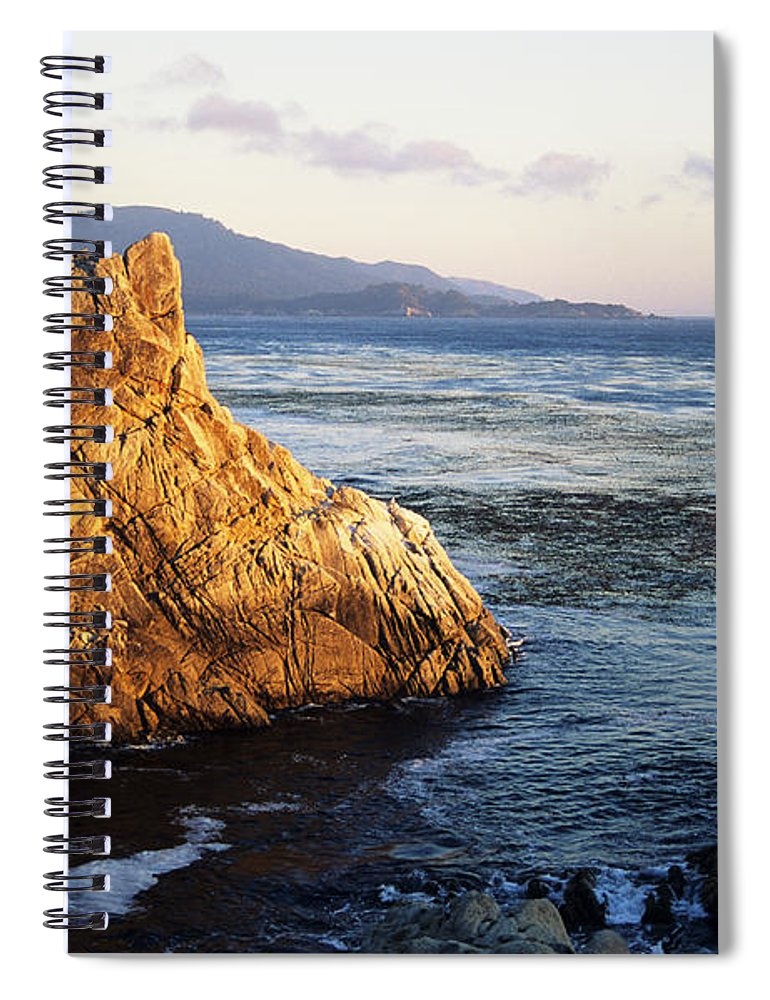 Afternoon Spiral Notebook featuring the photograph Lone Cypress Tree by Michael Howell - Printscapes