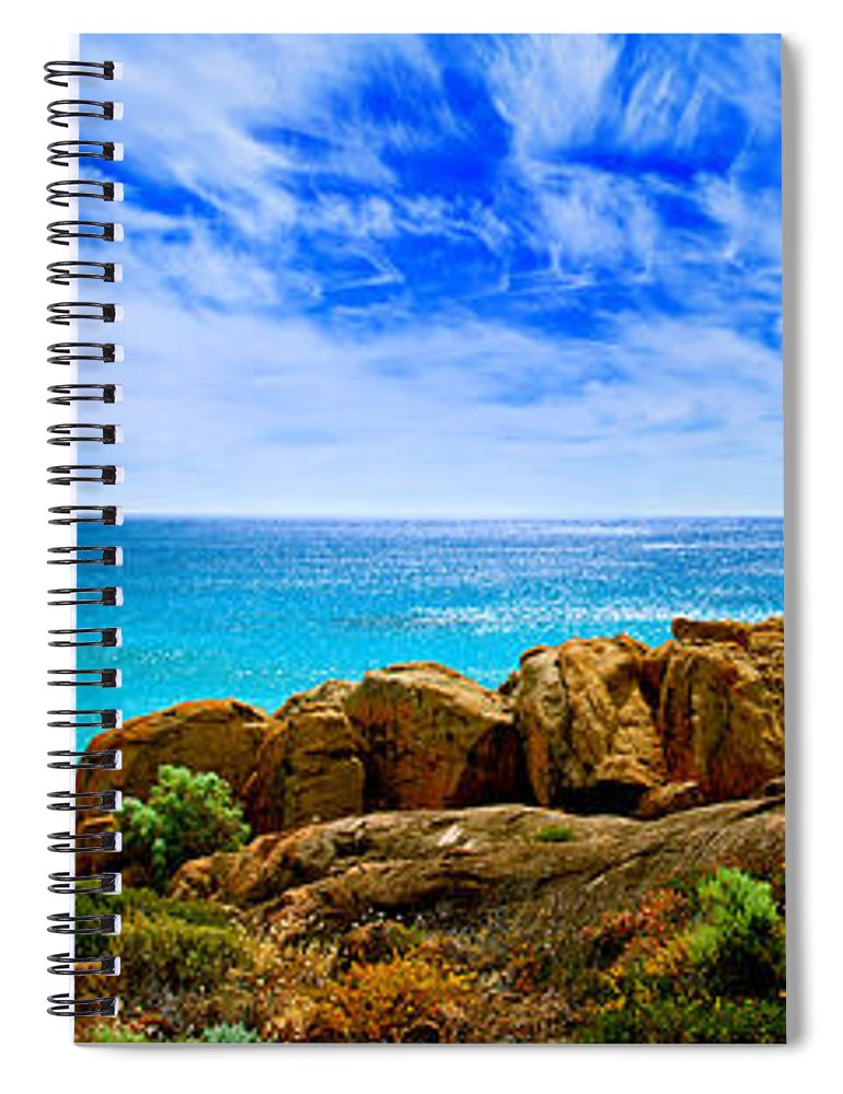 Smiths Beach Spiral Notebook featuring the photograph Look To The Horizon by Az Jackson