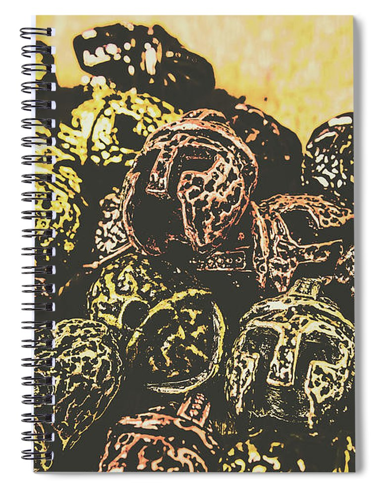 Gladiator Spiral Notebook featuring the photograph Losses From The Colossus by Jorgo Photography - Wall Art Gallery