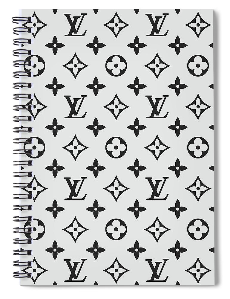 095c2b3e0494 Louis Vuitton Pattern Lv 07 Grey Spiral Notebook for Sale by TUSCAN  Afternoon