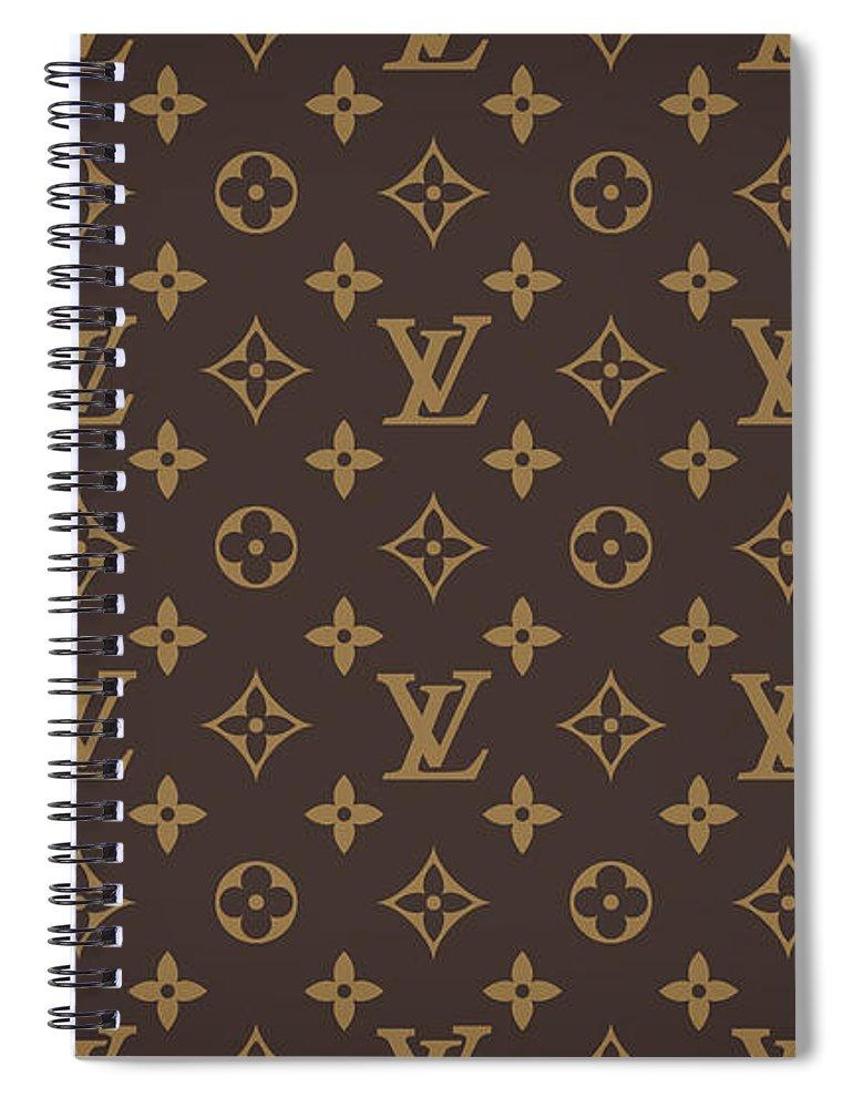 Louis Vuitton Spiral Notebook featuring the digital art Louis Vuitton Texture by Zapista OU
