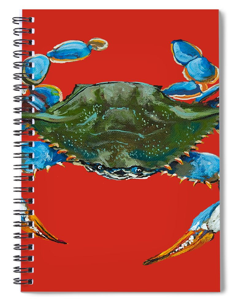 New Orleans Art Spiral Notebook featuring the painting Louisiana Blue On Red by Dianne Parks