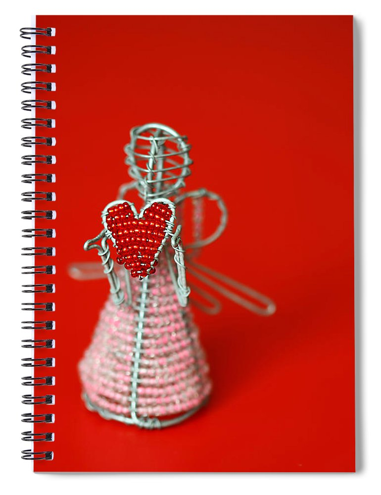 Toy Spiral Notebook featuring the photograph Love Angel by Evelina Kremsdorf
