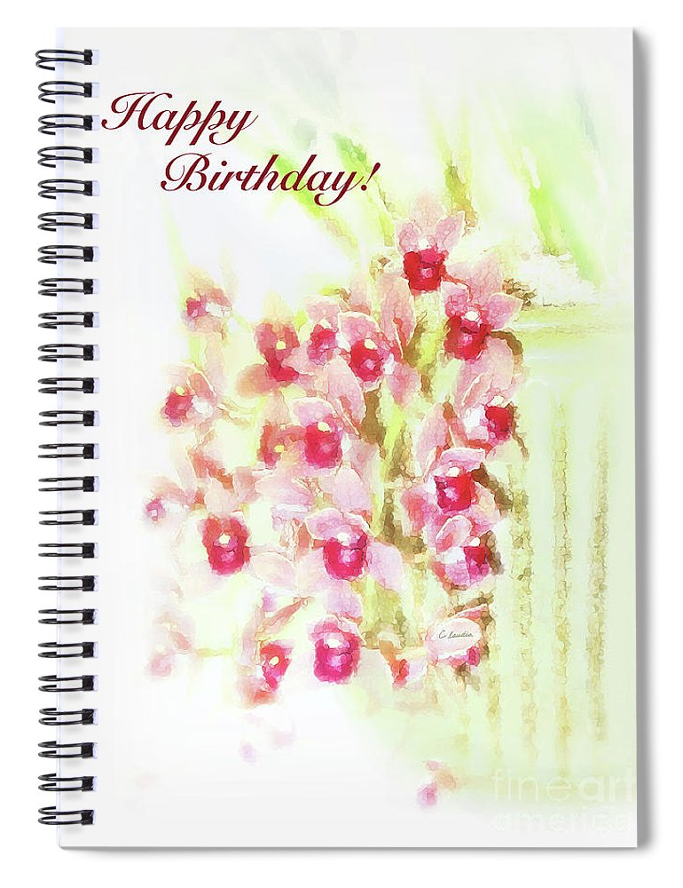 Birthday Card For Women Spiral Notebook Featuring The Painting Love At First Sight