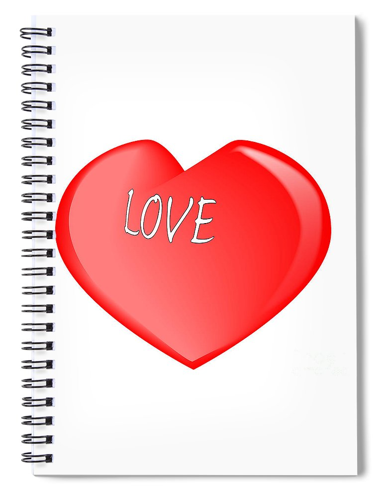 Love Spiral Notebook featuring the digital art Love Heart by Bigalbaloo Stock