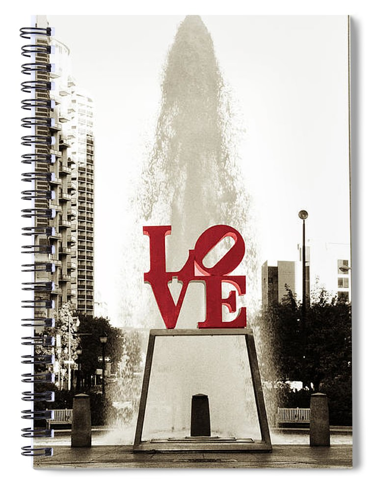 Love Spiral Notebook featuring the photograph Love In Philadelphia by Bill Cannon