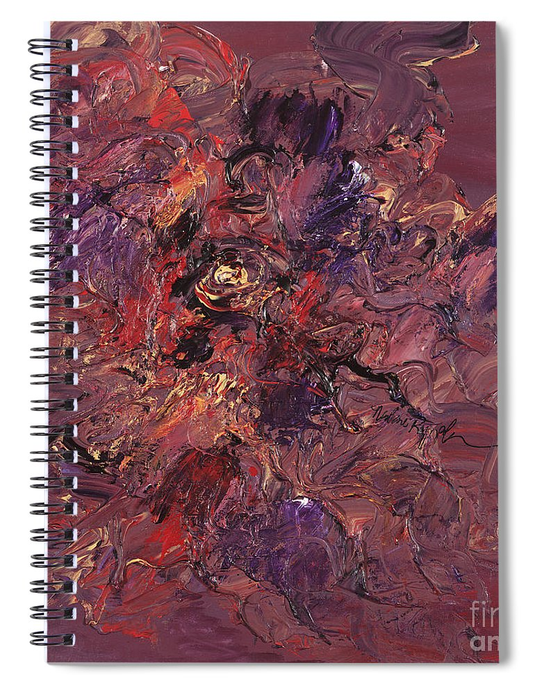 Love Spiral Notebook featuring the painting Love by Nadine Rippelmeyer