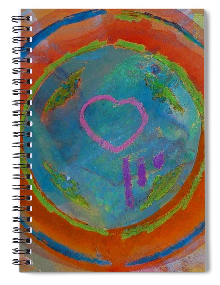 Logo Spiral Notebook featuring the painting Love The Sea by Charles Stuart