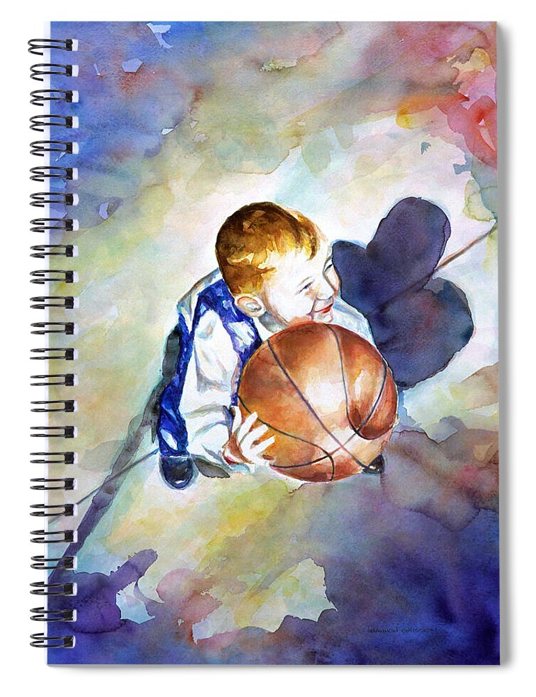 Watercolor Spiral Notebook featuring the painting Loves the Game by Shannon Grissom