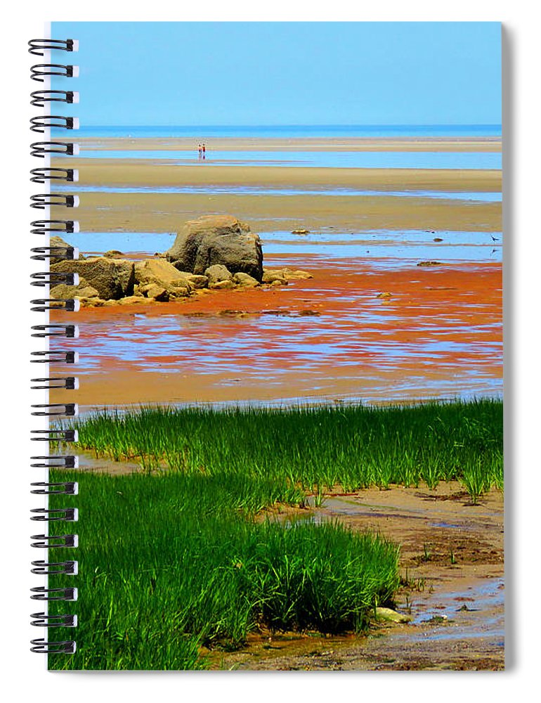 Beach Spiral Notebook featuring the photograph Low Tide Beauty by Dianne Cowen